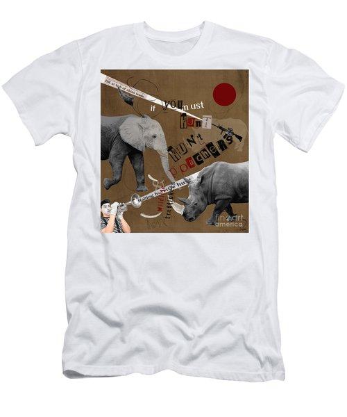 Hunt Wildlife Poachers Men's T-Shirt (Athletic Fit)
