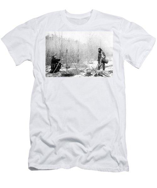 Hunting Camp Winter 1887-88 -- South Dakota Men's T-Shirt (Athletic Fit)