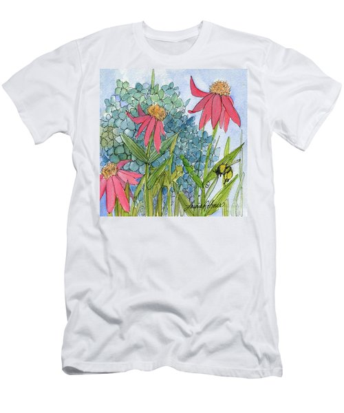 Hydrangea With Bee Men's T-Shirt (Athletic Fit)