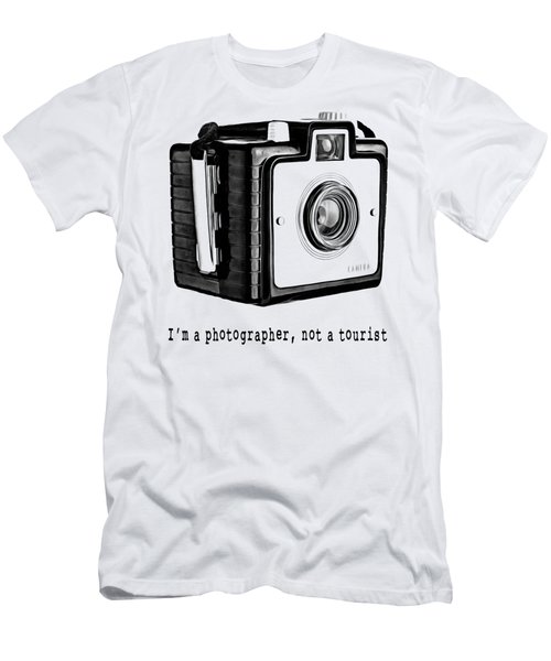 I Am A Photographer Not A Tourist Tee Men's T-Shirt (Athletic Fit)