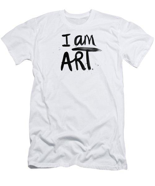 I Am Art Black Ink - Art By Linda Woods Men's T-Shirt (Athletic Fit)