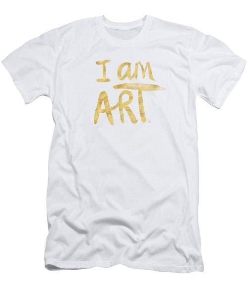 I Am Art Gold - Art By Linda Woods Men's T-Shirt (Athletic Fit)