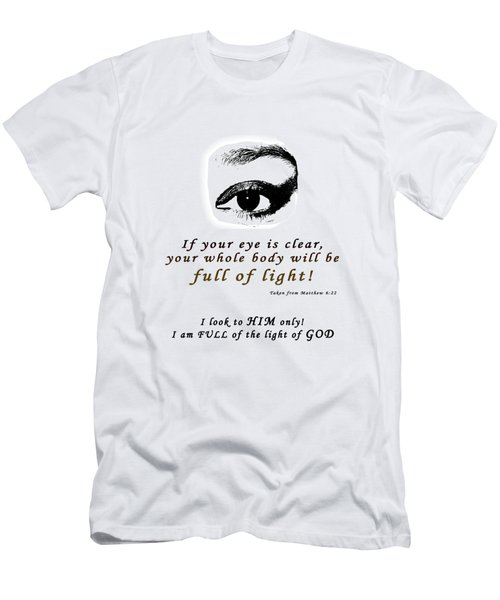 I Am Full Of Light Men's T-Shirt (Slim Fit) by Terry Wallace
