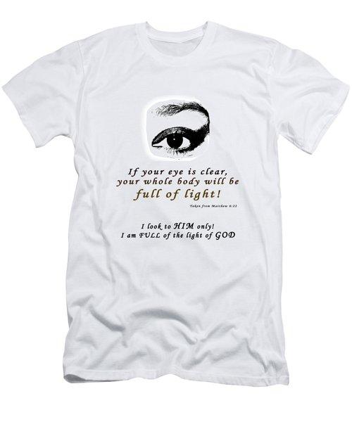 I Am Full Of Light Men's T-Shirt (Slim Fit)