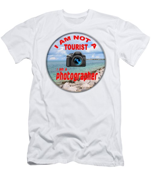 I Am Not A Tourist Men's T-Shirt (Slim Fit) by Bob Slitzan