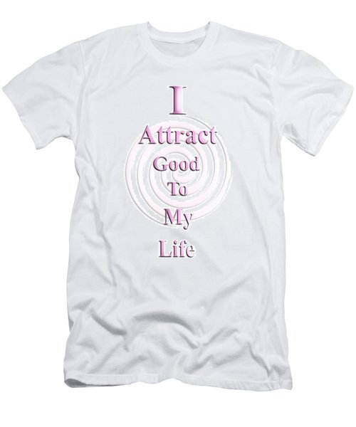 I Attract Pink Men's T-Shirt (Athletic Fit)