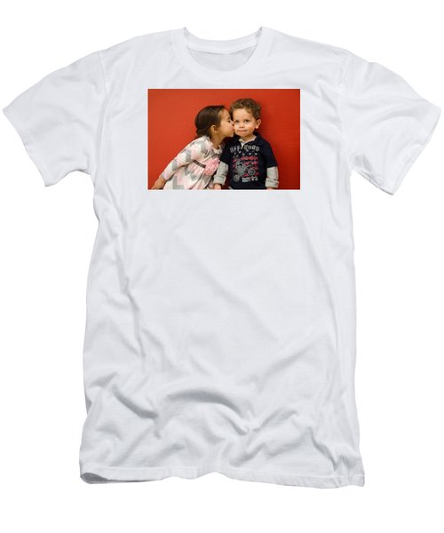 I Give You A Kiss Men's T-Shirt (Athletic Fit)