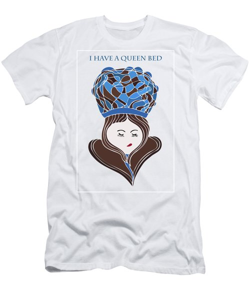 Men's T-Shirt (Slim Fit) featuring the drawing I Have A Queen Bed by Frank Tschakert