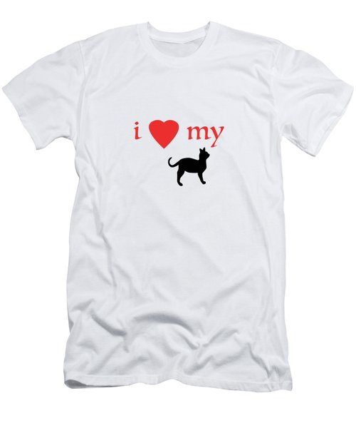 I Heart My Cat Men's T-Shirt (Slim Fit)