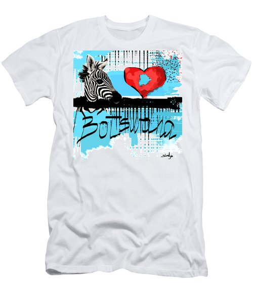 I Love Botswana  Men's T-Shirt (Slim Fit) by Sladjana Lazarevic