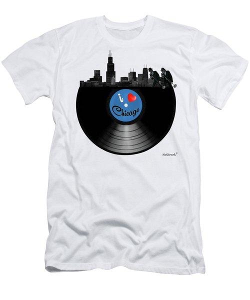 I Love Chicago Men's T-Shirt (Slim Fit) by Glenn Holbrook