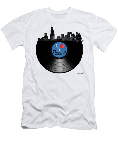 I Love Chicago Men's T-Shirt (Athletic Fit)