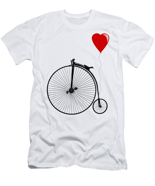 I Love Cycling Men's T-Shirt (Athletic Fit)