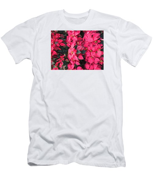 Men's T-Shirt (Slim Fit) featuring the photograph I Love Poinsettias by Kay Gilley