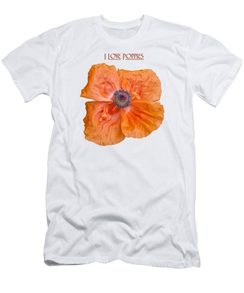 Men's T-Shirt (Slim Fit) featuring the photograph I Love Poppies by Thomas Young