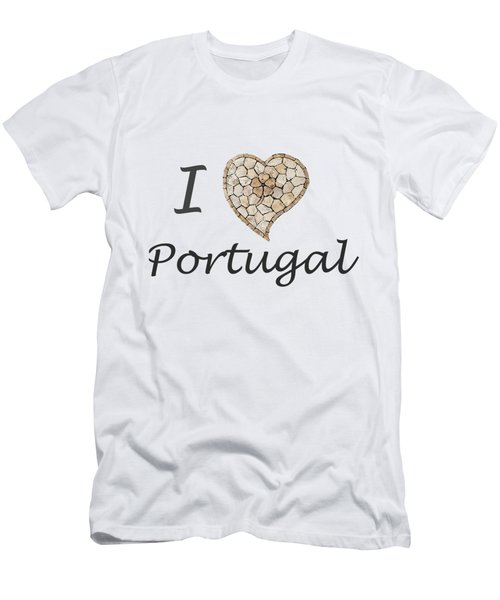 I Love Portugal Men's T-Shirt (Athletic Fit)