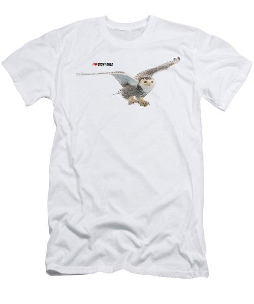 I Love Snowy Owls T-shirt Men's T-Shirt (Athletic Fit)