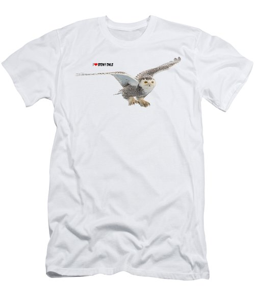 I Love Snowy Owls T-shirt Men's T-Shirt (Athletic Fit)