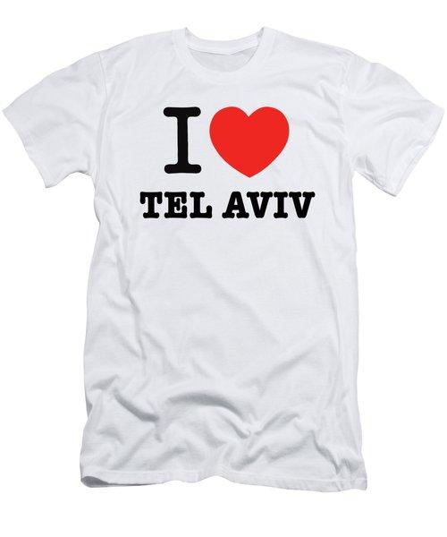 i love Tel Aviv Men's T-Shirt (Athletic Fit)