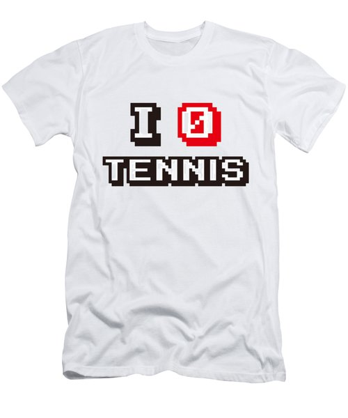 I Love Tennis Men's T-Shirt (Slim Fit) by Pillo Wsoisi