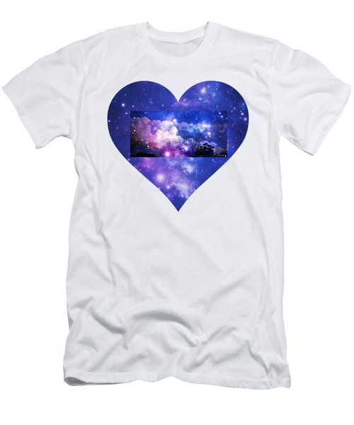 I Love The Night Sky Men's T-Shirt (Slim Fit) by Leanne Seymour