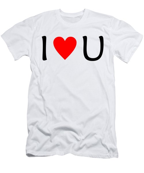 I Love You T-shirt Men's T-Shirt (Slim Fit) by Isam Awad