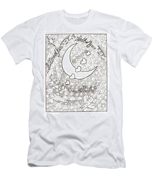 I Love You To The Moon And Back Men's T-Shirt (Slim Fit) by Wendy Coulson