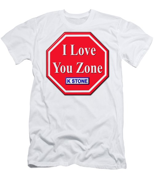 I Love You Zone Men's T-Shirt (Athletic Fit)