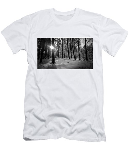 I Saw It.#bnw #monochrome #forest Men's T-Shirt (Athletic Fit)