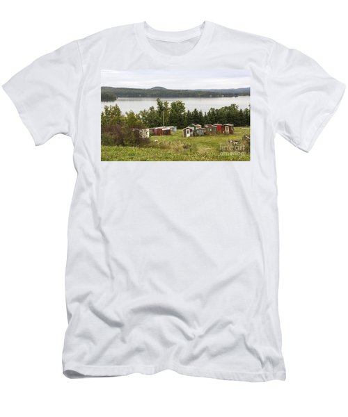 Ice Houses In Vermont Men's T-Shirt (Athletic Fit)