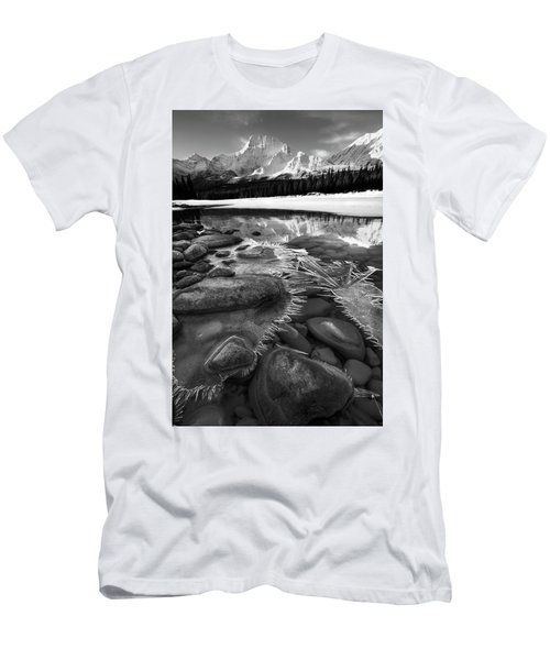Men's T-Shirt (Slim Fit) featuring the photograph Ice On The Athabasca by Dan Jurak