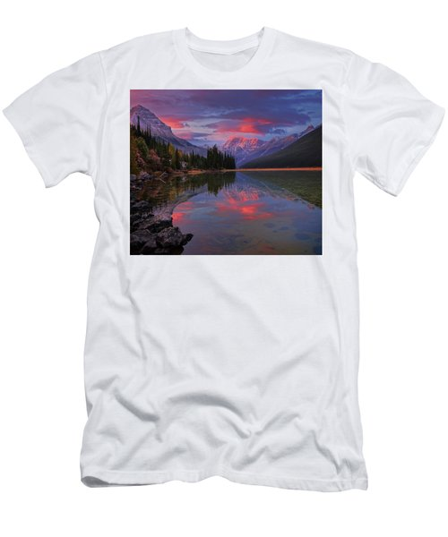 Icefields Parkway Autumn Morning Men's T-Shirt (Athletic Fit)