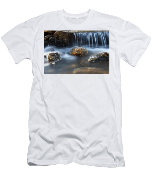 Icy Rocks On The Coxing Kill #1 Men's T-Shirt (Slim Fit) by Jeff Severson