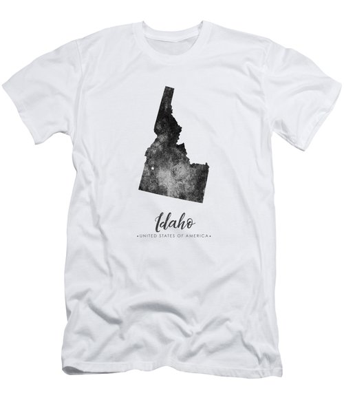 Idaho State Map Art - Grunge Silhouette Men's T-Shirt (Athletic Fit)