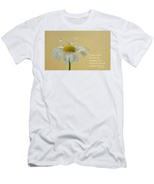 If I Had A Flower Quote Men's T-Shirt (Slim Fit) by Barbara St Jean