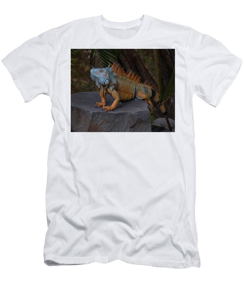 Men's T-Shirt (Slim Fit) featuring the photograph Iguana 2 by Jim Walls PhotoArtist