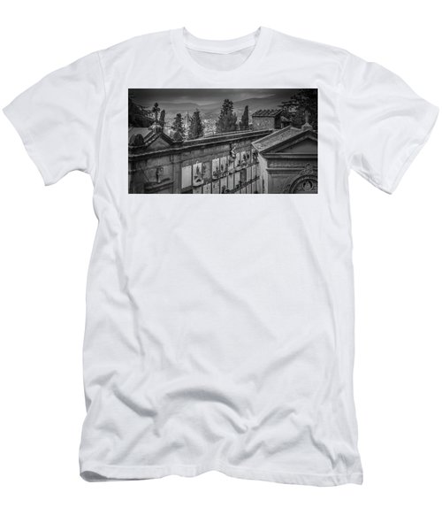 Men's T-Shirt (Slim Fit) featuring the photograph Il Cimitero E Il Duomo by Sonny Marcyan