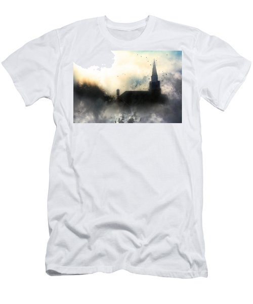 Men's T-Shirt (Slim Fit) featuring the painting I'll Fly Away by Gray  Artus