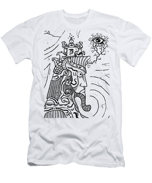 Surrealism Illuminati Black And White Men's T-Shirt (Athletic Fit)