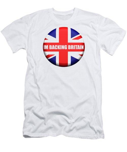 Im Backing Britain Men's T-Shirt (Slim Fit) by Roger Lighterness