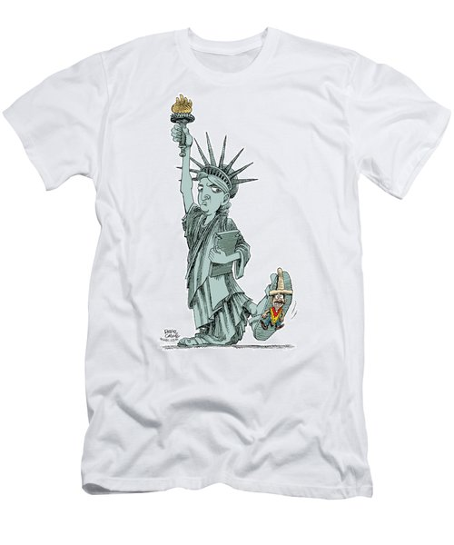 Immigration And Liberty Men's T-Shirt (Athletic Fit)
