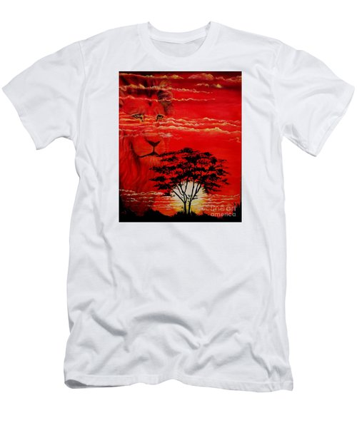 In An Arfican Sunset Men's T-Shirt (Slim Fit) by Ruanna Sion Shadd a'Dann'l Yoder