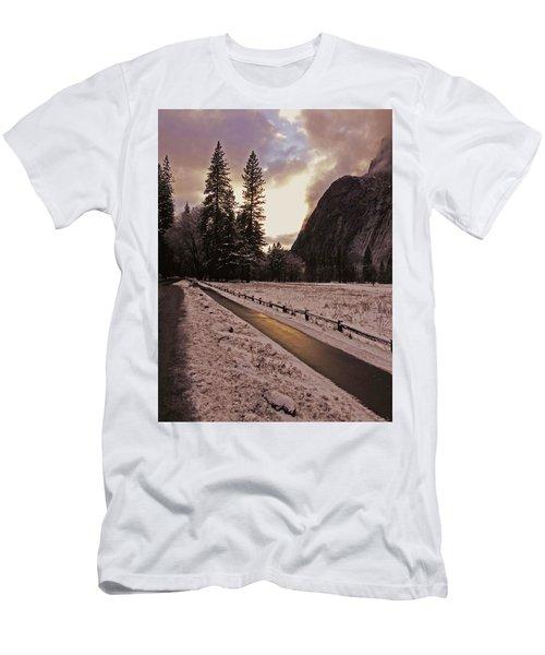 In Between Snow Falls Men's T-Shirt (Slim Fit) by Walter Fahmy