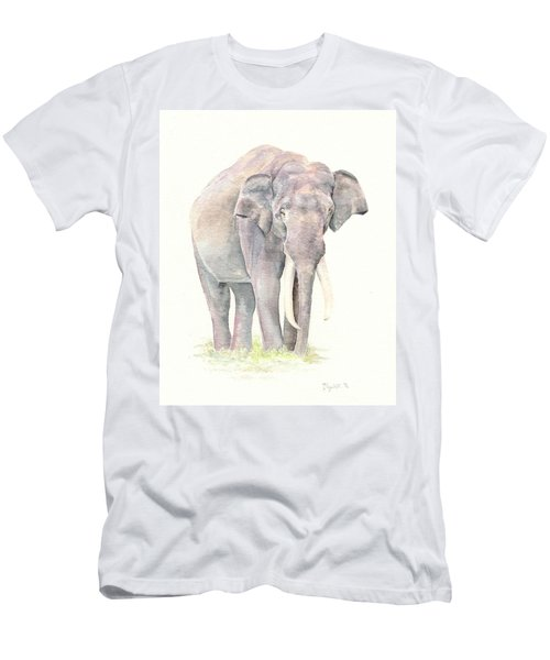 Men's T-Shirt (Slim Fit) featuring the painting In Charge by Elizabeth Lock