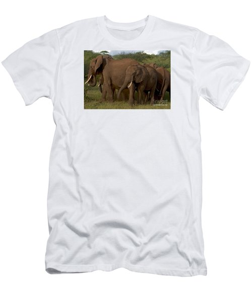 Men's T-Shirt (Slim Fit) featuring the photograph In Close For The Evening-signed by J L Woody Wooden