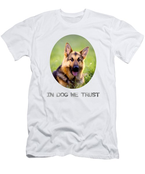 In Dog We Trust Men's T-Shirt (Athletic Fit)
