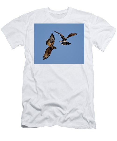 Men's T-Shirt (Athletic Fit) featuring the photograph In Flight Challenge H43 by Mark Myhaver