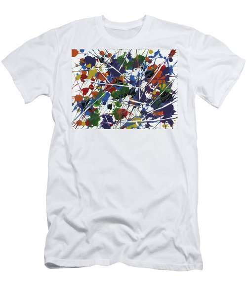 In Glittering Rainbow Shards Men's T-Shirt (Athletic Fit)