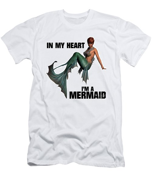 In My Heart I'm A Mermaid Men's T-Shirt (Athletic Fit)