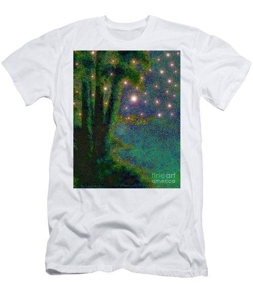 In The Beginning God... Men's T-Shirt (Slim Fit) by Hazel Holland